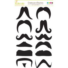 Fun mustache labels!  Safe on glass and chalk friendly so they'd be great for drinks or seating arrangements!