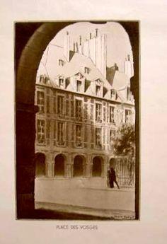 """Gravure JD, """"Place de Vosges"""""""