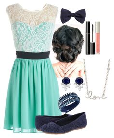 Grad Outfit//Read Description by hannahve on Polyvore featuring Fergalicious, Swarovski, Sydney Evan, H&M, SUQQU, Ilia, country, CCSgradoutfits and HannahsGraduationIdeas