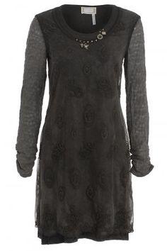 Elisa Cavaletti Embellish Tunic Moka Size: S | Muse Lifestyle