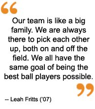 Its for Softball but it relates all my teammates in Basketball, Soccer, and Volleyball.