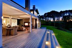 Master Builders awards showcase best New Zealand houses for 2015 Outdoor Fire, Outdoor Lounge, Outdoor Rooms, Outdoor Sound System, New Zealand Architecture, New Zealand Houses, Bungalow Renovation, Alfresco Area, Pergola With Roof