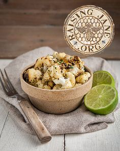 Pan-roasted Lime-Cilantro Cauliflower: Prep Time: 15 Minutes Cook Time: 6-8 Minutes Makes: 4 Servings