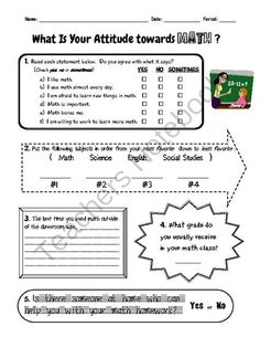 elementary writing attitude survey