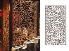 Gallery for the design of laser cut screens to show the design style and product effect of the laser cut metal screens made by stainless steel. Decorative Metal Screen, Decorative Wall Panels, Cnc Cutting Design, Laser Cutting, Cnc Router, Jaali Design, Laser Cut Screens, Laser Cut Steel, Grill Design