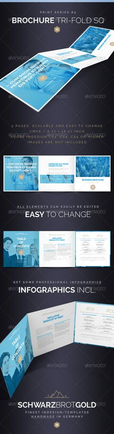 Brochure Tri-Fold Square Series 5  #GraphicRiver        If you like this, watch out the other Items of this Series        Brochure Tri-Fold Square Series 5 InDesign CS3 / CS4 / CS5