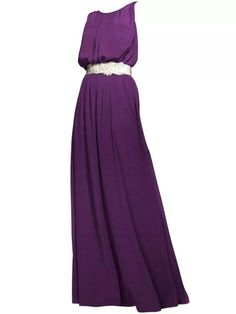Nice cut purple bridesmaid dress