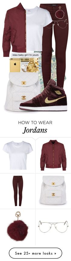 by jonesja5002 on Polyvore featuring J Brand, Ray-Ban, Chanel, NIKE, RE/DONE, WearAll and Humble Chic