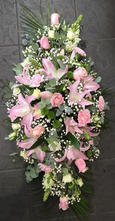 Idea Of Making Plant Pots At Home // Flower Pots From Cement Marbles // Home Decoration Ideas – Top Soop Funeral Bouquet, Funeral Flowers, Wedding Flowers, Funeral Floral Arrangements, Beautiful Flower Arrangements, Beautiful Flowers, Flower Shop Decor, Flower Decorations, Cemetery Flowers