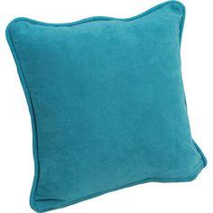 Blazing Needles Microsuede Corded Throw Pillow & Reviews   Wayfair