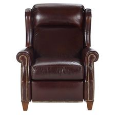 Graham Leather Recliner, Anson/Chestnut