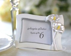Calla Lily Place card holder and picture frame