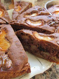 Rus Usulü Ekşi Elmalı Çikolatalı Kek - Russische Apfeltorte