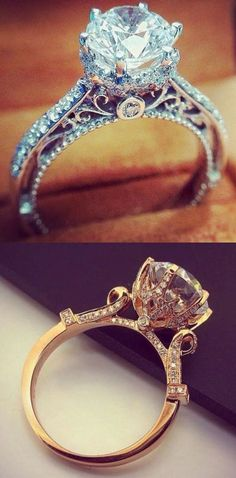 Vintage style engagement ring - beautiful!