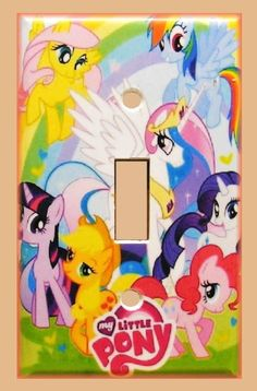 MY LITTLE PONY BEDROOM SINGLE LIGHT SWITCH COVER #A14 in Home & Garden   eBay