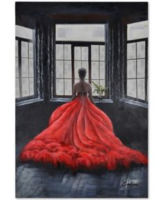 Let the Ren-Wil Marbella Wall Art offer artful inspiration to any decor. This painting by artist Chelsea Chase pops with a lovely woman in a red dress. Dress Painting, Figure Painting, Oil Painting On Canvas, Painting Prints, Canvas Art, Wood Paintings, Painted Canvas, Hand Painted, Henna Body Art