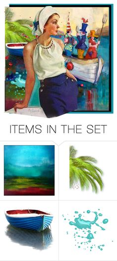 """""""Rock the Boat"""" by kathy-martenson-sanko ❤ liked on Polyvore featuring art"""