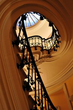 Beautiful staircase and skylight