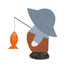 Country Sam Fishing Applique Quilt Kit