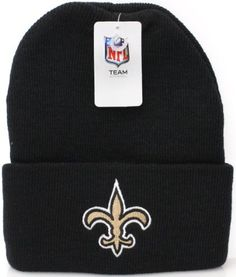 New Orleans Saints Logo Cuff Beanie Hat Cap Black Gold NFL. $8.95