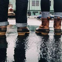 Preppy rain wear