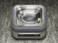 Drinking Fountain App Icon by Ben Sperry Mobile App Icon, Ios App Icon, News Web Design, App Icon Design, 3d Design, Graphic Design, Iphone Icon, New Iphone, Iphone App