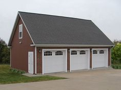 009G-0011: Three-Car Garage Plan with Loft