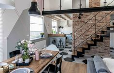 Via Cute mini loft inspiration for today Mini Loft, Flur Design, Loft Design, Design Case, House Design, Design Design, Zeitgenössisches Apartment, Apartment Interior, Family Apartment