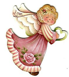 Angel to paint on something Christmas Angels, Vintage Christmas, Christmas Crafts, Christmas Ornaments, Angel Clipart, Arte Country, Angel Pictures, Angels In Heaven, Heavenly Angels