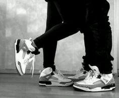 #matching j's #couple #jordans