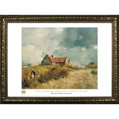 Buy Art For Less Museum Masters 'Cottage in the Dunes' by Stanislas Henri Jean/Charles Cazin Framed Painting Print
