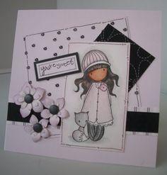 Julie's Inkspot: Black, White and Pink
