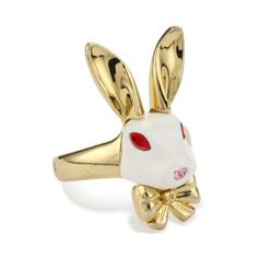 """Disney Couture Alice In Wonderland """"Believe In Yourself"""" Rabbit Ring, Size 6: Jewelry"""