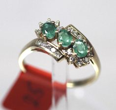 Smaragd Brillantring 750 Gold