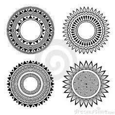 Black And White Symmetric Henna Patterns Royalty Free Stock Image - Image: 20251216