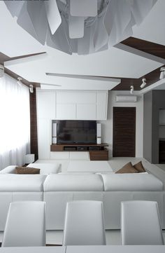 White decor Dramatic All White Renovated Apartment in Moscow by Vladimir Malashonok