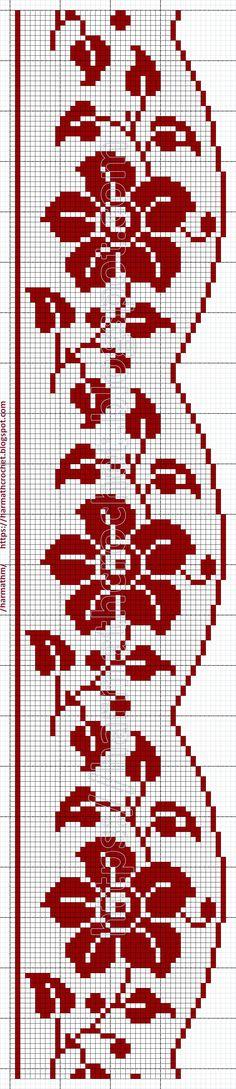 Crochet Diagram, Filet Crochet, Crochet Motif, Crochet Doilies, Crochet Lace, Crochet Patterns, Norwegian Knitting Designs, Cross Stitch Pillow, Crochet Tablecloth