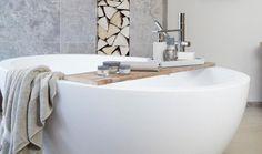 Designer Bath tub with neutral colour scheme Neutral Color Scheme, Color Schemes, Bath Tub, Colour, Interior Design, Bathroom, Luxury, Stylish, R Color Palette