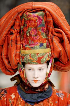 A model wears a creation by Italian designer Antonio Marras for Kenzo during the spring/summer 2011 show at Paris Fashion Week - Fashion Galleries - Telegraph