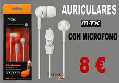 Digit@L Chip - Informática - Sonido: MTK - AURICULARES CON MICROFONO