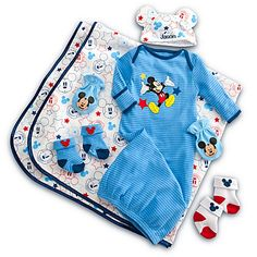 Mickey Mouse Welcome Home Set for Baby - Personalizable