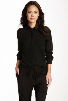 Long Sleeve Pocket Blouse
