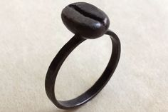 Antiqued Coffee Bean Stackable Ring (16 Super Cute Pieces of Coffee Inspired Jewelry)