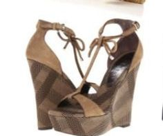 Brown Plaid Wedge