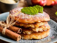 Low Carb Cinnamon Apple Pancakes made with coconut flour and applesauce make a delicious, Paleo friendly pancake that you will love. Cinnamon Apples, Cinnamon Rolls, Slender Kitchen, Unsweetened Applesauce, Food For Thought, Kefir, Food Print, Delish, Dessert Recipes