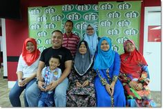 Norsahada (second right) finally reunited with her biological family at EraFM