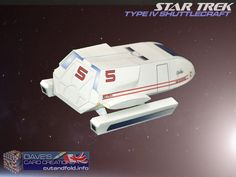 Type IV Shuttlecraft Paper Model by Dave Winfield - Dave's Card Creations © www.cutandfold.info