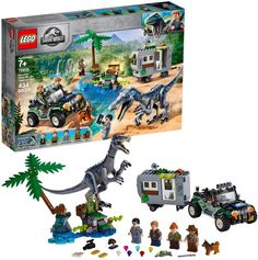 Drama awaits children as they help Owen Grady and Claire Dearing pursue bad guys through the jungle in LEGO Jurassic World 75935 Baryonyx Face-Off: The Treasure Hunt. LEGO Jurassic World Baryonyx Face-Off: The Treasure Hunt. Jurassic Park, Lego Jurassic World Dinosaurs, Dinosaur Age, Dinosaur Gifts, Face Off, Legos, Lego Sets For Boys, Jungle Scene, Buy Lego