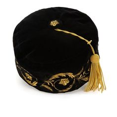Embroidered smoking cap