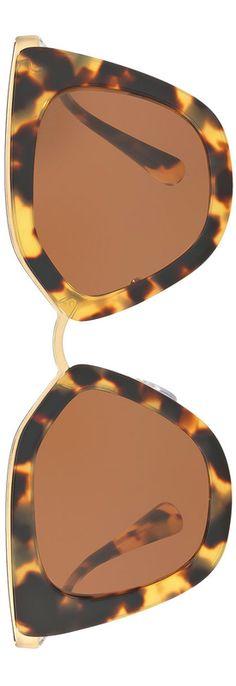 289e29aaae Prada Gradient Metal-Trim Geometric Cat-Eye Sunglasses. Lidia Santa ·  anteojos abu · Lentes de Sol ...